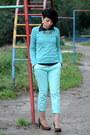 Aquamarine-mavi-jeans-aquamarine-cotton-no-name-sweater