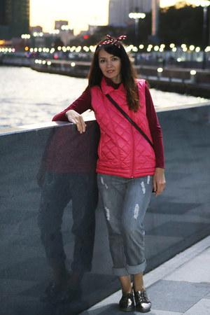 heather gray Apart jeans - salmon Acoola vest