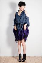 purple oh leoluca skirt