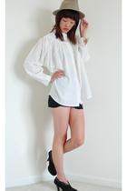 vintage blouse - aa skirt - vintage hat