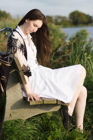 white white polo Lacoste dress - white white skirt GINA TRICOT skirt