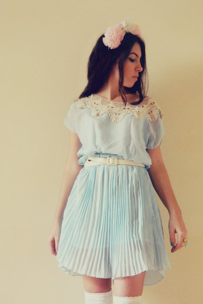 sky blue OASAP dress