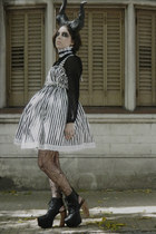 DIY dress - Jeffrey Campbell boots