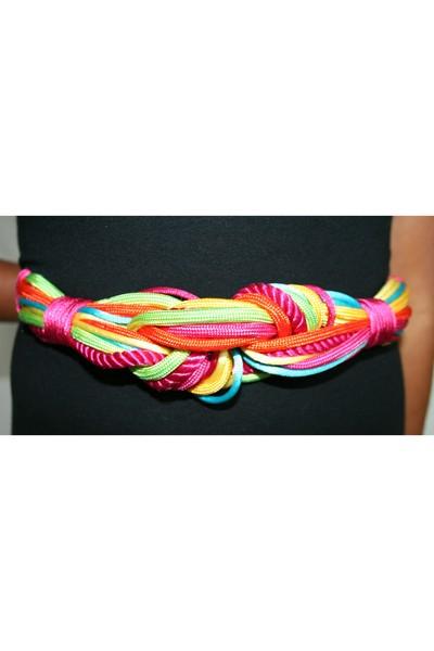 80s Vtg Rainbow Rope belt belt