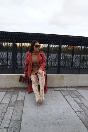 overtheknee Lolashoetique boots - jumper dress Forever 21 dress