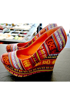 carrot orange tribal shoes shoes