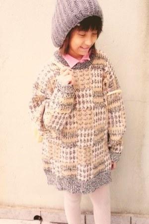 My Mummy sweater - vintage hat - new look tights - vintage top - vintage bag