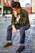 army green camo JCrew jacket - Zara shoes - dark brown zeroUV sunglasses