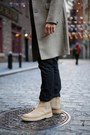 Camel-suede-common-project-boots-heather-gray-wool-rag-bone-coat