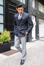 Black-allen-edmonds-shoes-black-bar-iii-blazer-heather-gray-express-pants