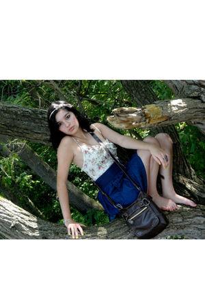 blue Rue 21 skirt - beige Charlotte RusseRusse jumper - beige Target accessories