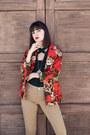 Floral-vintage-blazer-tank-topshop-pants-velvet-kimchi-blue-top