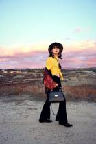 fringe Penny Loves Kenney boots - kadell bag - boho cardigan - pants