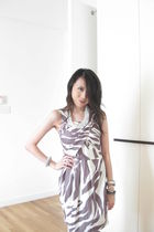 white thrifted from mont kiara flea market dress - purple thrifted from mont kia