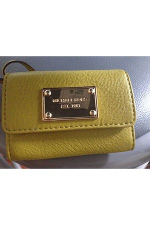 green rectangle shape Michael Kors wallet
