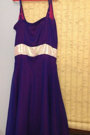 purple no brand dress - purple flowy dress