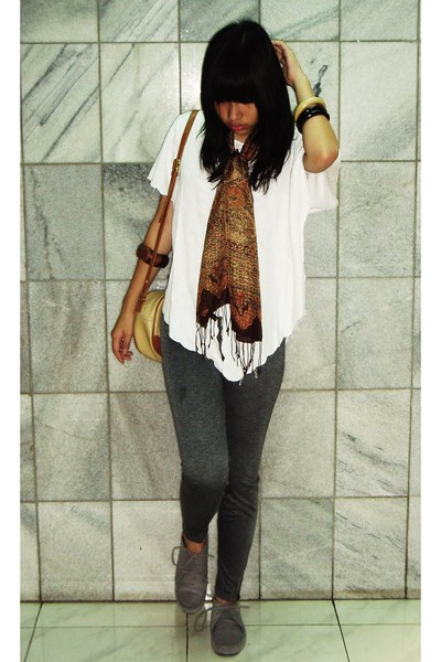 batik keris scarf - Bali top - GoGirl  leggings - JakCloth shoes - malioboro bra