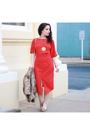 red Kancystore dress