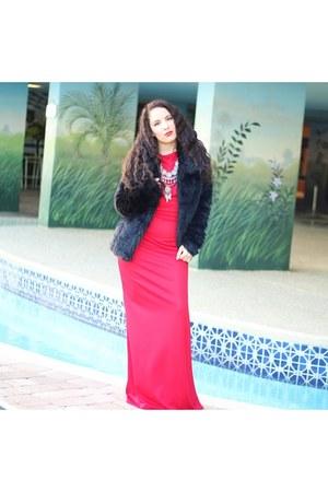red maxi dress Ecowish dress