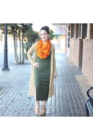 pumpkin print scarf