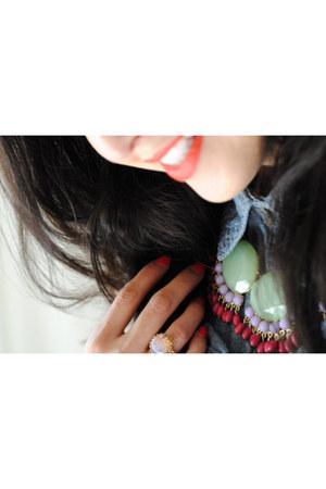 Libi & Lola necklace - machu gold ring Libi & Lola ring
