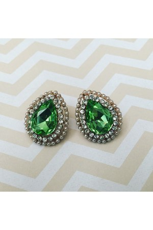 green drops Libi & Lola earrings