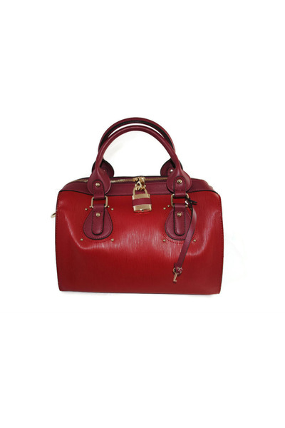 red satchel Libi & Lola bag