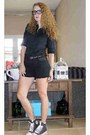 Spikes-cea-shorts-cotton-cea-blouse-polka-dots-all-star-sneakers