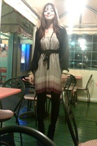 vintage skirt dress - Patrizia Pepe jacket
