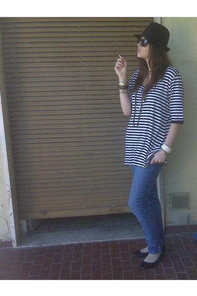 vintage shirt - Topshop jeans