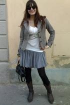 vintage jacket - Topshop skirt