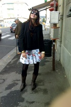 next blazer - vintage skirt - vintage sunglasses - vintage shoes