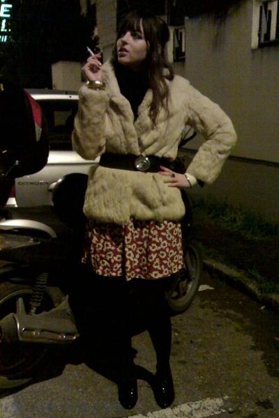 vintage jacket - Primark dress