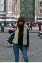 vintage vest - Topshop jeans - vintage sunglasses