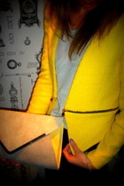 yellow Zara blazer - new look bag