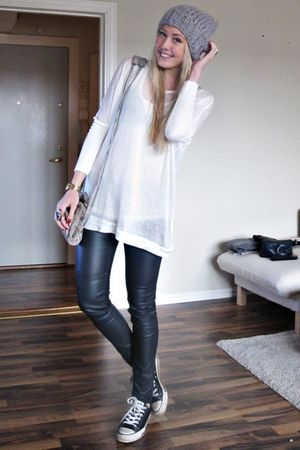 gray Alexander Wang purse - black H&amp;M pants - black Converse shoes