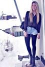 Black-chanel-purse-light-blue-vintage-levis-shorts-dark-green-second-female-
