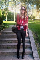 red sequined IRO jacket - black leather IRO boots