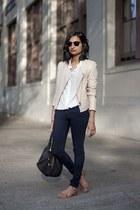 kamari leather Joie jacket - ankle legging AG jeans - everlane shirt