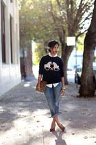 horsing around J Crew sweatshirt - boyfriend Current Elliott jeans