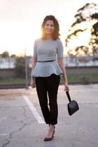 peplum H&M shirt - Free Endearment bag