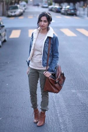 Topshop jacket - madewell pants