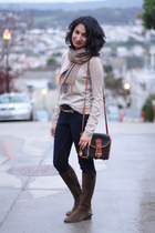 Dooney & Bourke bag - Michael Kors boots - Blank jeans