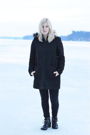 gray TJ Maxx coat - Target boots - black Charlotte Russe jeans