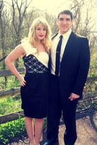 black one shoulder Lord & Taylor dress