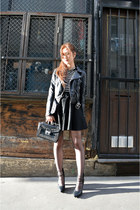 black leather jacket H&M jacket