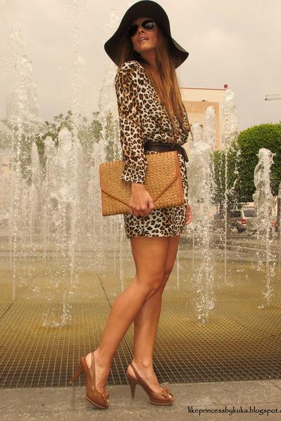 zara shoes - sfera dress - frmula joven hat - bershka bag