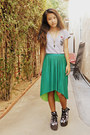 Heather-gray-ed-hardy-t-shirt-green-pleated-target-skirt