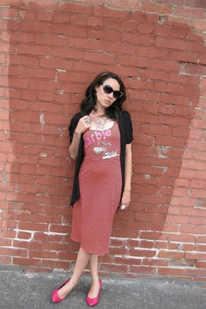 maxi Cotton Candy Punk Couture dress - Thrift Store sunglasses