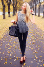 Black-persunmall-bag-brick-red-h-m-heels-black-h-m-pants-navy-bik-bok-top